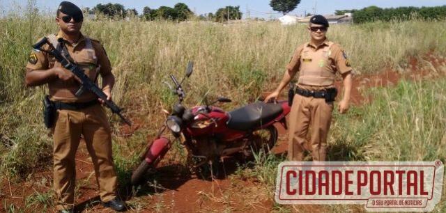 Polícia Militar de Ubiratã recuperou moto roubada antes de proprietário prestar queixa