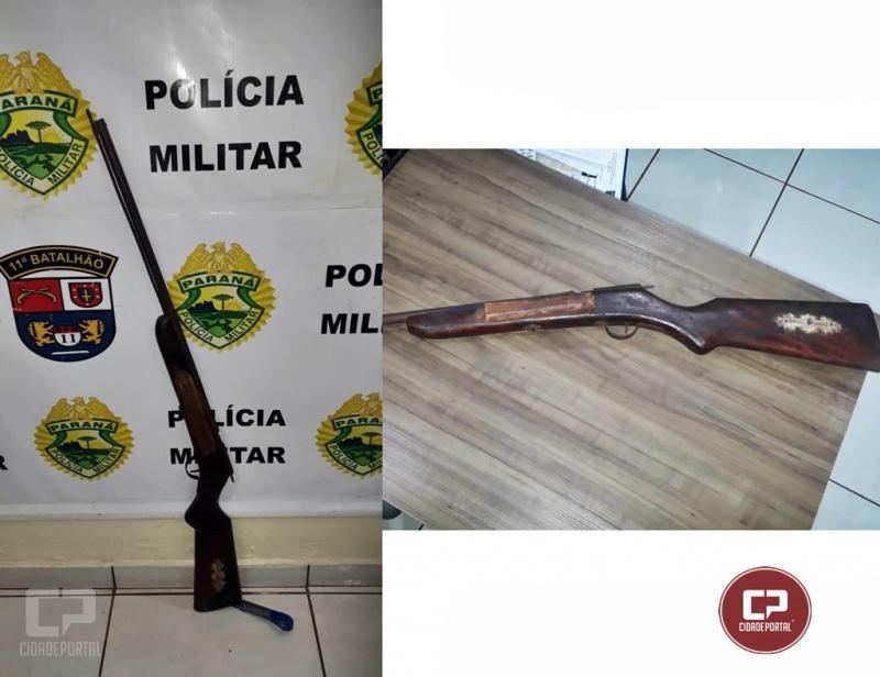 Uma pessoa foi presa por posse irregular de arma de fogo em Juranda