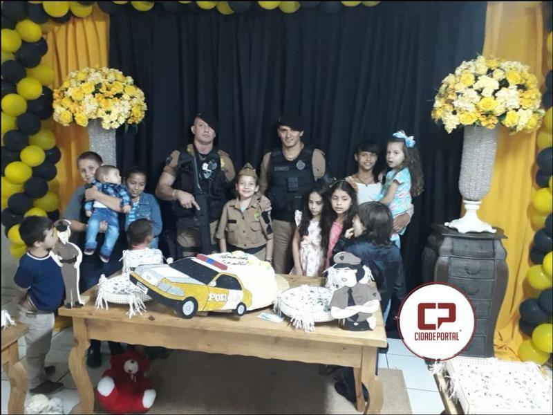 Rotam da Polícia Militar realiza sonho de criança durante aniversário de 8 anos em Campina da Lagoa