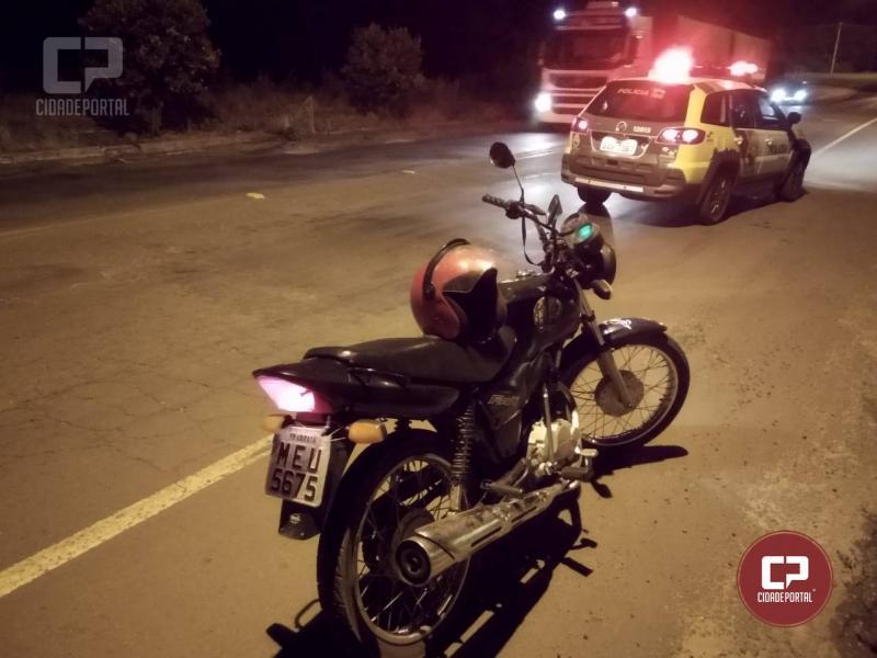 Motocicleta furtada em Ubiratã foi recuperada pela Polícia Militar de Guaíra