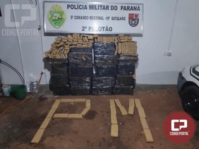 Após perseguição Polícia Militar de Nova Aurora encontra 500 kg de maconha em veículos roubados