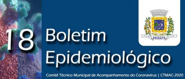 Secretaria de Saúde divulga 18º Boletim Epidemiológico com informações sobre o Coronavírus em Ubiratã