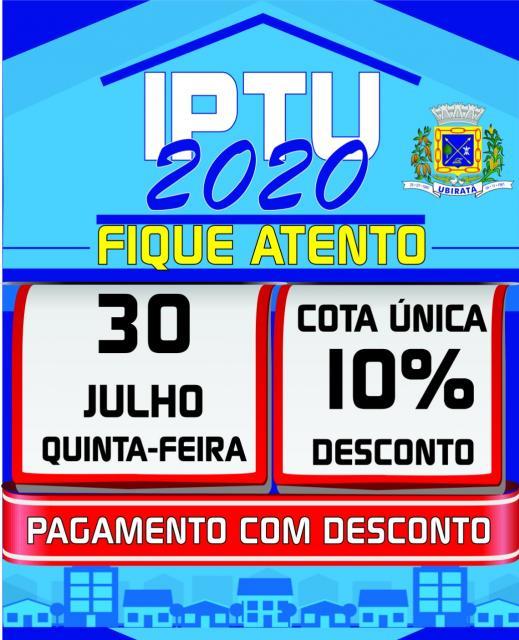 IPTU 2020: prazo para pagamento com 10% de desconto termina no dia 30 de julho