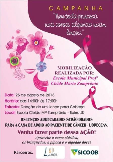 Escola Municipal Cleide M. Zamprônio realiza Campanha, Nem toda princesa usa coroa, algumas usam lenços, em Ubiratã