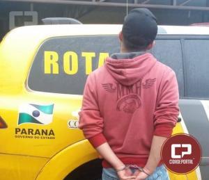 Uma pessoa foi  encaminhada para delegacia de Ubiratã pelo crime de Tráfico de drogas pela Polícia Militar