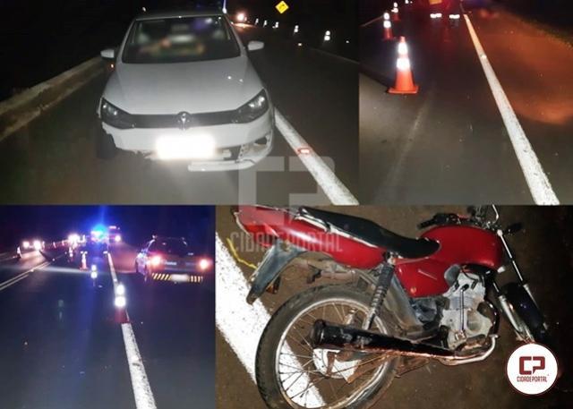 PRF atende mais um acidente com morte na BR-369, em Ubiratã
