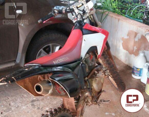 Polícia Militar de Goioerê recuperou uma moto de trilha roubada no distrito de Yolanda