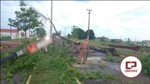 Temporal passa por Ubiratã neste domingo, interdita rodovia 369 e causa danos na área urbana