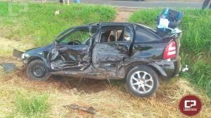Acidente na rodovia PR-580 em Umuarama, deixa duas pessoas feridas na tarde deste sábado, 28