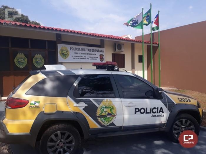 Policial Militar em patrulhamento prende uma pessoa com mandado aberto por vários crimes em Juranda
