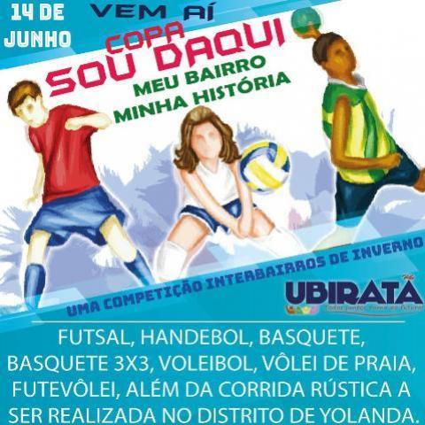 Copa Sou Daqui: Meu Bairro Minha História começa dia 14 de junho em Ubiratã
