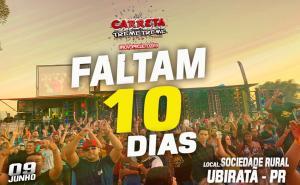 Pela primeira vez em Ubiratã Carreta Treme Treme, dia 09 de junho antecipe seu convite