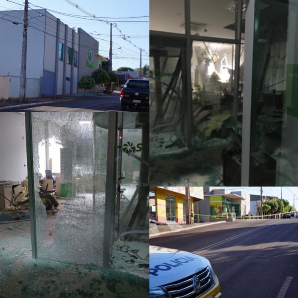 Bandidos Explodem e Deixam Bomba em Agência do Sicredi de Nova Cantu
