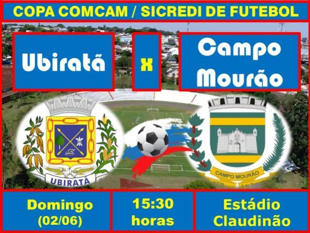 Ubiratã enfrenta Campo Mourão neste domingo no Claudinão pela Copa Comcam/Sicredi