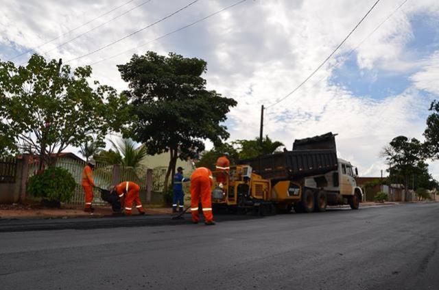Ruas de Ubiratã receberam 35 mil metros quadrados de recape asfáltico nos últimos meses