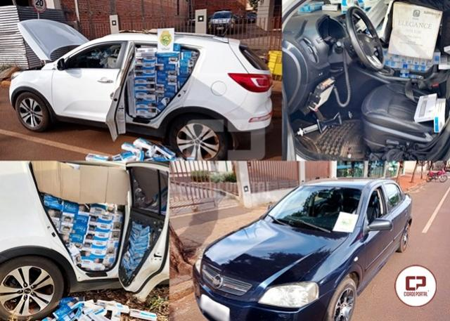 Polícia Militar de Juranda apreende veículo carregado com cigarros contrabandeados