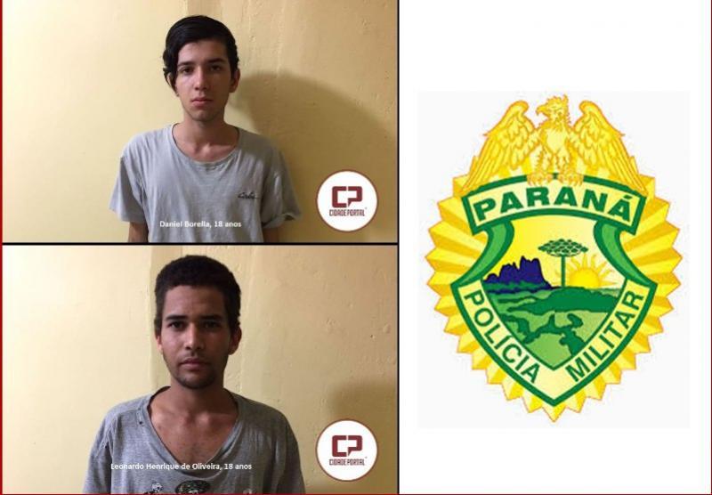 Polícia Militar de Umuarama realiza prisão de duas pessoas envolvidas em roubo de veículos em Ivaté neste domingo, 27