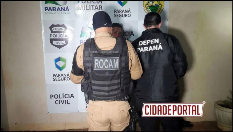 """Vulgo """"pipoca"""" é preso pela equipe da ROCAM de Campo Mourão portando arma de fogo dentro de um estabelecimento comercial"""