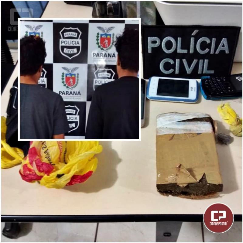 Investigadores da Polícia Civil de Engenheiro Beltrão apreende drogas antes de chegarem até a cadeia pública