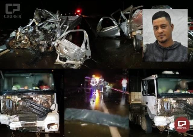 Homem de 36 anos perde a vida em acidente na BR-272 entre Campo Mourão e Farol