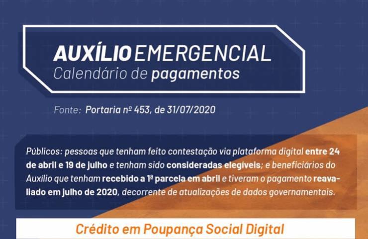 Auxílio Emergencial será pago a mais 1,15 milhão de pessoas que tiveram pedidos revistos