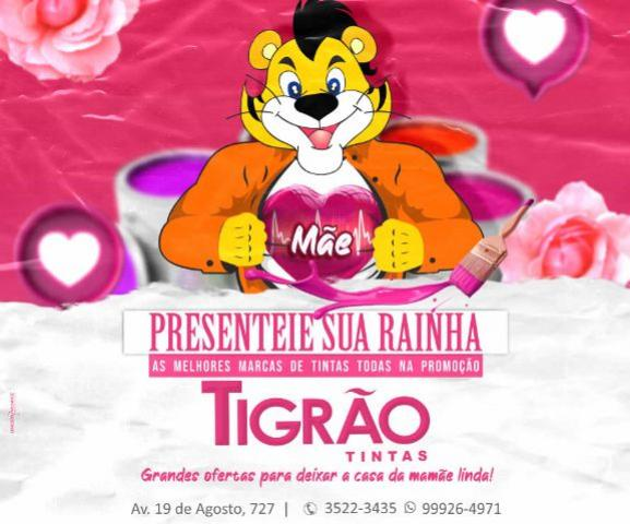 """Tigrão Tintas - As melhores marcas de tinta com grandes ofertas para você presentear a sua """"Rainha"""""""