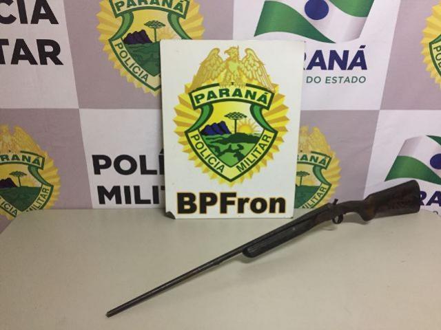 BPFron apreende contrabando e espingarda em ações distintas durante Operação MEROM em Cascavel