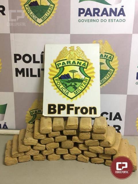 BPFron apreende entorpecente em meio a mata na cidade de Guaíra - PR