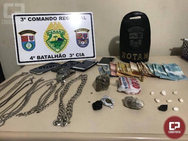 Polícia Militar prende dois homens acusados de tráfico de drogas emMandaguari