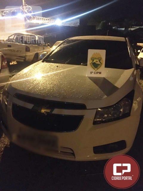 Policiais Militares de Cianorte agem rápido, recuperam veículo roubado e prende autor do delito