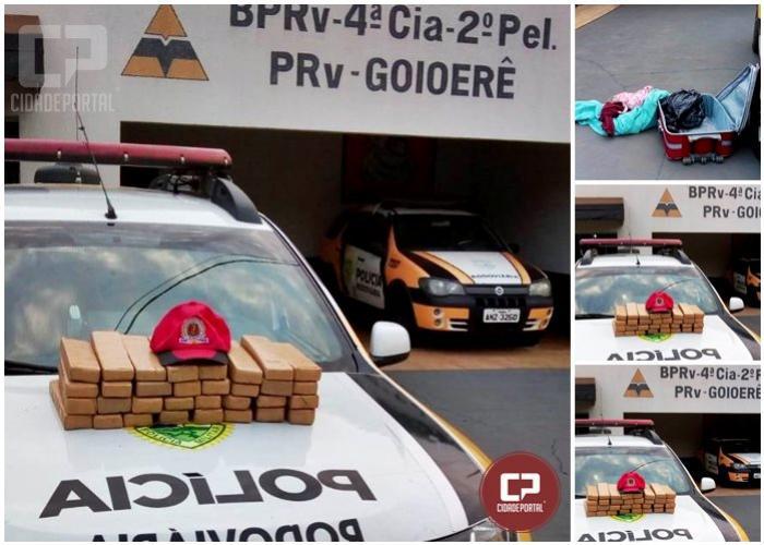 Polícia Rodoviária Estadual posto de Goioerê apreende 17 quilos de maconha em ônibus de linha