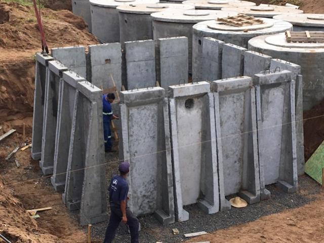 Sistema construtivo pré-moldado permite construção de tanques de tratamento de água
