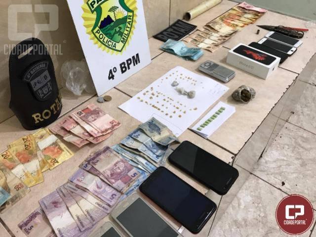 Polícia Militar apreende traficante, droga e dinheiro no conjunto João de Barro e Zona Sete em Maringá