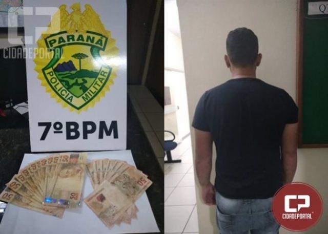 Uma pessoa é presa após realizar pagamento na lotérica de Cruzeiro do Oeste com cédulas falsas