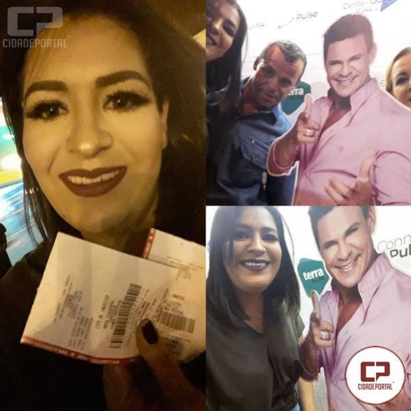 Fabiana Fialho de Goioerê foi a sorteada para o Show do Eduardo Costa