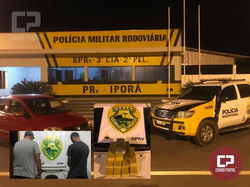 Duas pessoas são presas com 7,8 kg de drogas pela Polícia Rodoviária Estadual de Iporã durante fiscalização