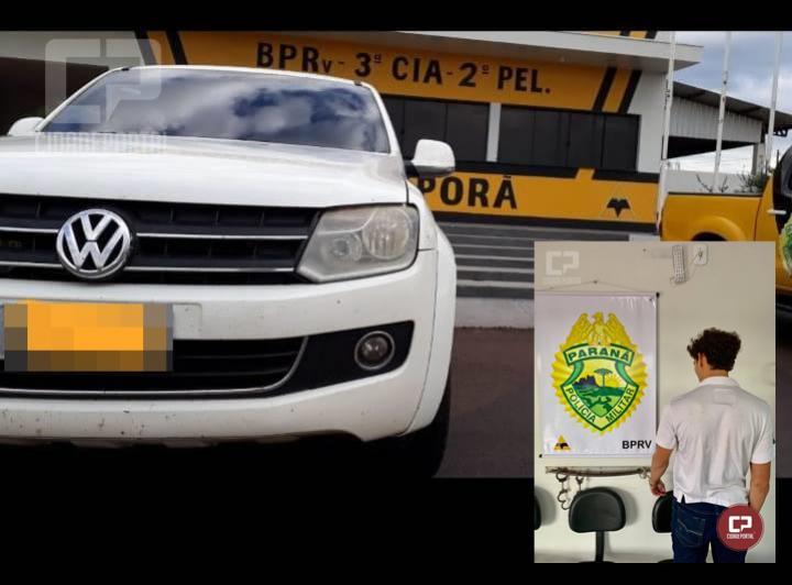 Polícia Rodoviária de Iporã durante Fiscalização recupera caminhonete roubada e prende condutor