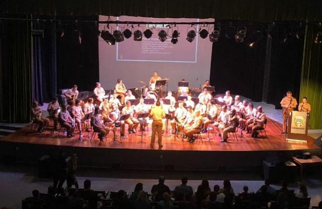 Apresentação da Banda da PMPR na Cidade de Umuarama foi sucesso