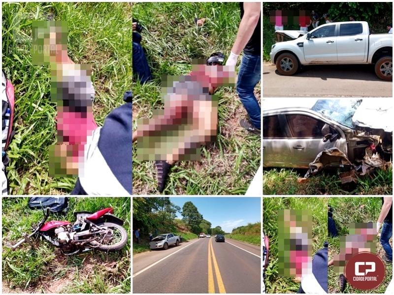 Grave acidente deixa uma vítima fatal na PR-323 em Cruzeiro do Oeste