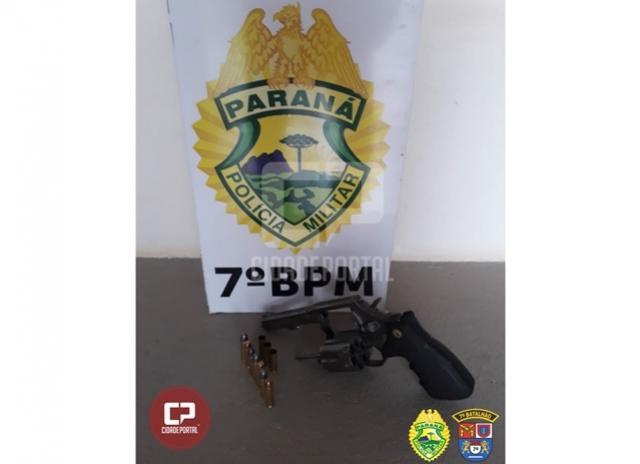 Polícia Militar de Moreira Sales prende uma pessoa e apreende revólver após denúncia anônima