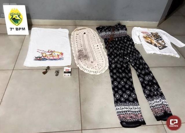 Mulher é presa após tentar furtar roupas de varal em residência na cidade de Moreira Sales