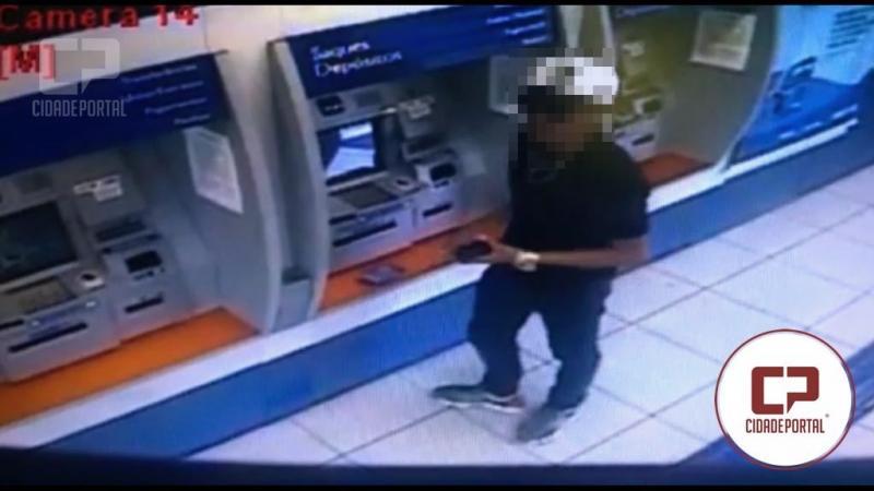Jovem encontra celular em caixa eletrônico desliga, tira o chip e vai responder por furto
