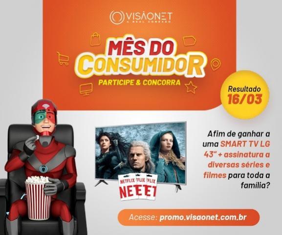 Mês do Consumidor - VisãoNet, participe e concorra a uma Smart TV