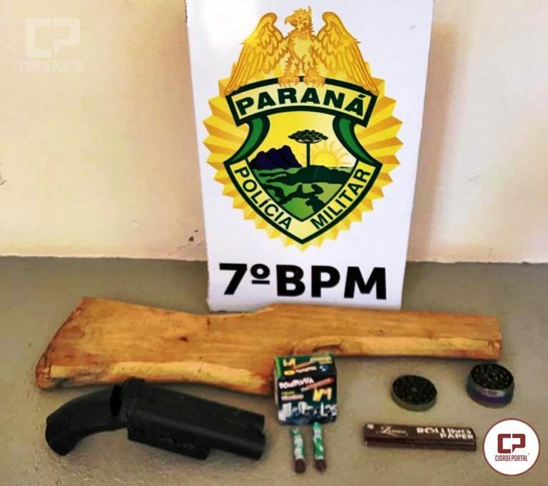 Polícia Militar de Moreira Sales apreende simulacro de arma e drogas em Moreira Sales