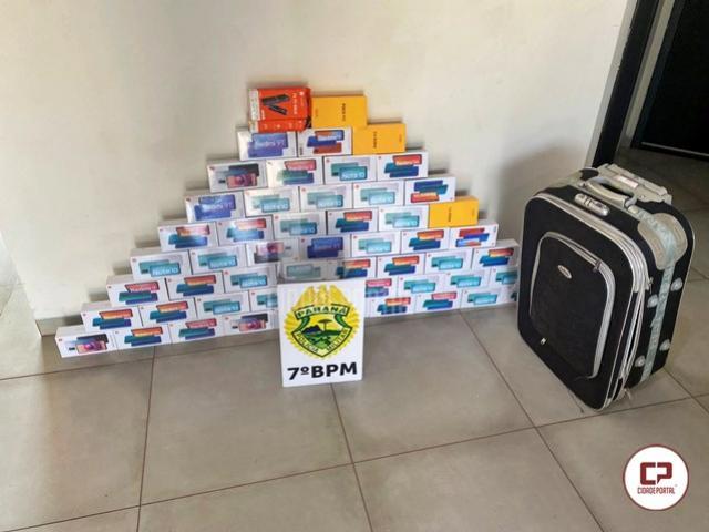 Polícia Militar apreende carga de celulares contrabandeados em Moreira Sales