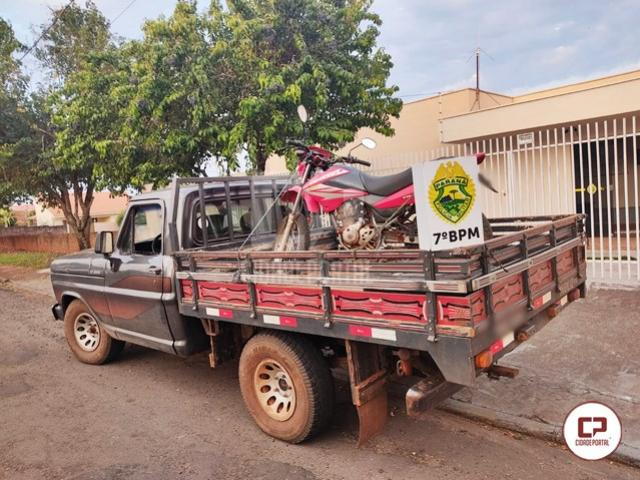Polícia Militar de Moreira Sales recupera veículos que foram roubados em Mariluz