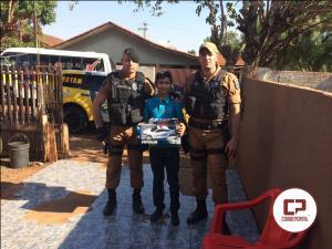 Rotam de Ubiratã foi na cidade de Campina da Lagoa para realizar o sonho do menino Gemerson do Nascimento