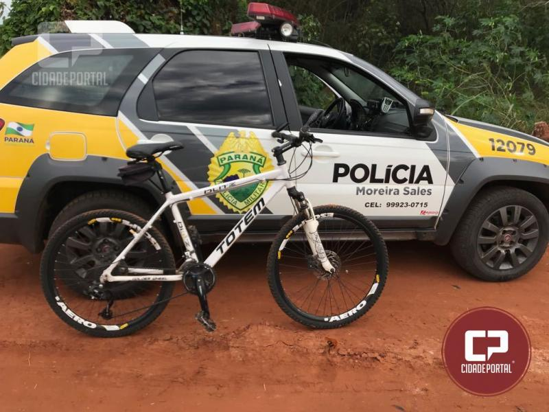 Após denuncia anônima, Polícia Militar de Moreira Sales recupera bicicleta furtada abandonada em estrada rural