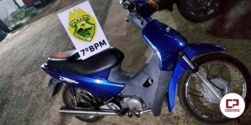 Uma pessoa foi presa pela PM por recepção de uma motoneta em Moreira Sales