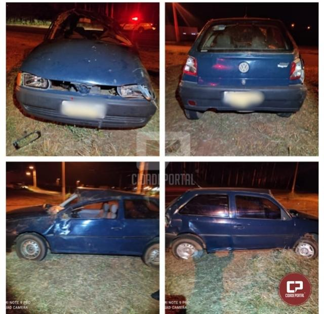 Morador de Moreira Sales perde controle de veículo e capota às margens da PR-468